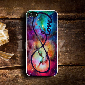 infinity love purple galaxy Design mobile Phone case