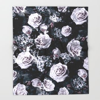 Dark Love Throw Blanket by RIZA PEKER