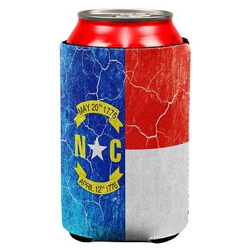 North Carolina Vintage Distressed State Flag All Over Can Cooler