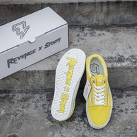 Revenge x Storm Old Skool Yellow Skateboarding Shoe 35-44