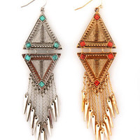 Cute Dangle Earrings - Southwest earrings - Long Earrings - $14.00