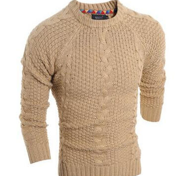 high quality 2016 male jumper casual men pullover sweater mens autumn winter wool thick knitted Christmas sweater clothing