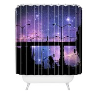 Shannon Clark Night Walk Shower Curtain