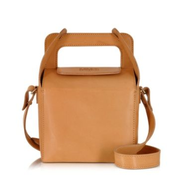 MM6 Maison Martin Margiela Designer Handbags Natural Leather Lunch Box Bag
