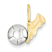 14k Two-Tone Soccer Charm A9497