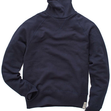 Todd Snyder Japan Turtleneck Sweatshirt in Navy