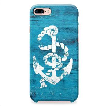 Marine Anchor Blue Wooden iPhone 8 | iPhone 8 Plus Case