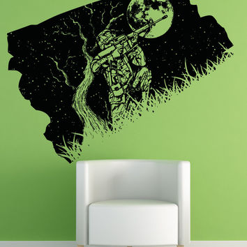 Vinyl Wall Decal Sticker Military Shooter at Night #OS_AA1571