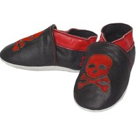"""Skull"" Crib Shoes by Sourpuss Clothing"