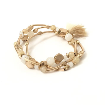Golden Ways Tassel Bracelet
