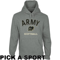 Army Black Knights Heritage Custom Sport Pullover Hoodie - Gunmetal Heather