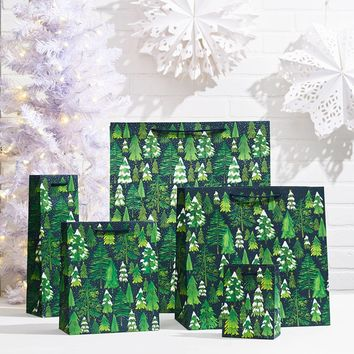 Small Snowy Trees Gift Bag