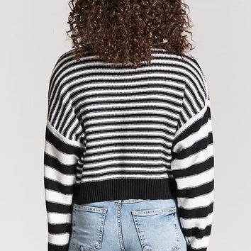 Striped Purl Knit Sweater