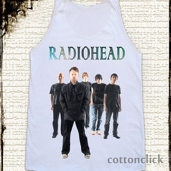 S, M, L -- RADIOHEAD TShirts Alternative Rock TShirts Women Shirts Vest Tank Top Women Tunics Sleeveless Singlet Shirts