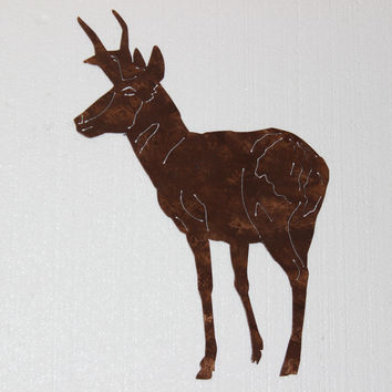 Antelope Metal Wall Art Country Rustic Hunting Home Decor