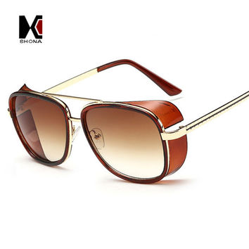 Cheaper Iron Man 3 Matsuda Sunglasses Men Square Sun Glasses Brand Designer Women Punk Sunglass Oculos Masculino Gafas