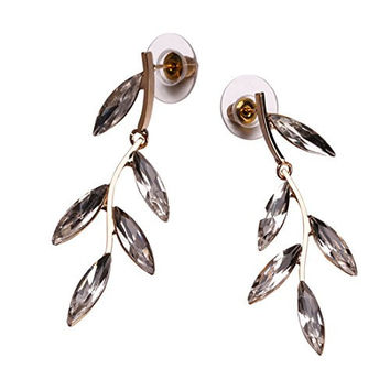 Penderie Elegant Textured Tiny Drop Branch Floating Leaves Dangles stud earrings, 1 pair, With Free Gift Box