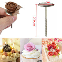 Cake Cupcake Handle Icing Cream Flower nail stand DIY Bake Sugarcraft Decorating