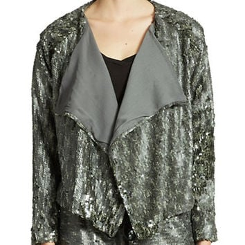 Free People Open Sequined Jacket