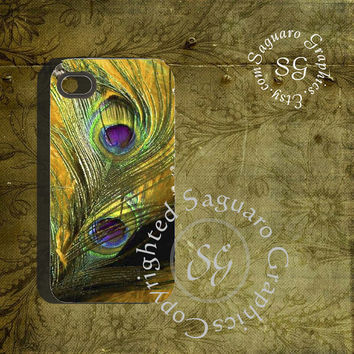 Peacock Feathers Art - Digital Collage Sheets sg541 - Cell Phone Cases 4-4s Cases and 5-5s Cases