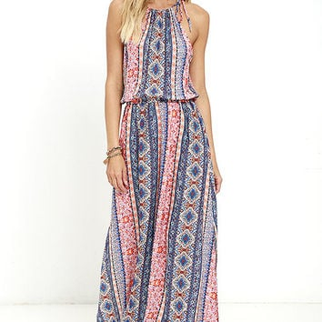 Estuary Orange Print Maxi Dress