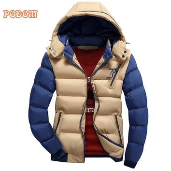 2017 New Casual Brand Puffer Jacket Coats Hooded Men Coat Winter Autumn Warm Men's Thick Padded Jacket Male Windbreaker Parkas