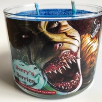 Derry's Berries-IT-Pennywise Blueberry Cheesecake Icecream Scented 11.2 ounce Soy Blend Candle