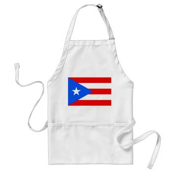 Apron with Flag of Puerto Rico, U.S.A.