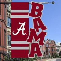 "Alabama Crimson Tide 28"" x 44"" Crimson-Gray Cut-Out Applique Banner Flag"