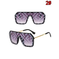 FENDI Classic Hot Sale Ladies Men Shades Eyeglasses Glasses Sunglasses 2#