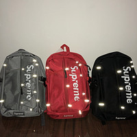 Supreme Backpack Travel Bag Fitness Bag 3M Reflective Backpack F0667-1