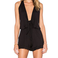 Zoe Romper in Black