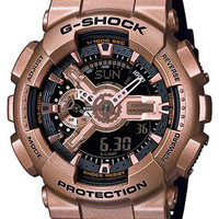 Casio Classic Mens Analog Digital G-Shock - Rose Gold Tone  & Black