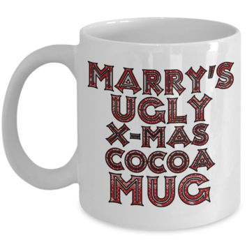 Best Funny Ugly Christmas Cocoa Mug Gift - 11OZ Pencil Cup - Perfect for Holidays, Birthday, Men, Women, Gift for Him & Her - Fun Inspirational Humor & Ugly Cup for - Cute 11 oz Mug For Hot Cocoa, Coffee & Tea