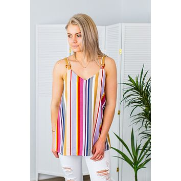 Ella Striped Tank-Multi