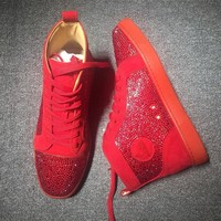 Cl Christian Louboutin Rhinestone Mid Strass Style #1910 Sneakers Fashion Shoes - Best Deal Online