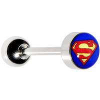 Licensed Superman Barbell Tongue Ring | Body Candy Body Jewelry