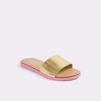 Gwayni Gold Women's Flats | ALDO UK