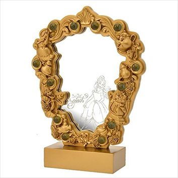 Disney Japan Beauty and the Beast Be Our Guest Resin Stand Mirror New with Box