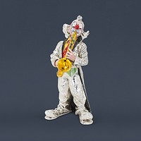 Silver Clown Collectible Sculptures in Color