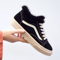 Vans Women Casual Wool Simple Old Skool Flats Shoes