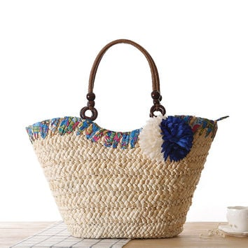 Floral Beach Bags Shoulder Bags [6580706951]