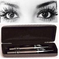 Womens 3D Fiber Lash Mascara Set Women Makeup Tool Waterproof Eyes Lash