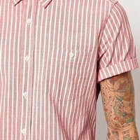 ASOS Stripe Shirt In Short Sleeve