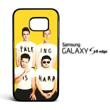 Walk The Moon Talking is Hard Cover X0386 Samsung Galaxy S6 Edge Case