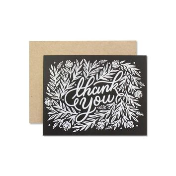 Wild Hart Paper - Floral Thank You Card