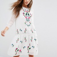 Y.A.S Embroidered Summer Dress at asos.com