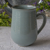 Large Mug / Stoneware Coffee Mugs / Ceramic Handmade Mug / 14oz Mug / Teal Mug