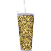Slant Collections- 22 Oz. Hot/Cold Tumbler- Gold Glitter