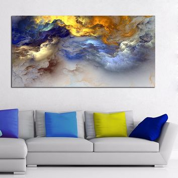 WANGART Painting, Abstract Art, Canvas Wall art, Happy home On canvas, Original Art, Landscape Art, Abstract Painting printed
